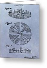 Roulette Wheel Patent Greeting Card
