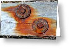 Round And Rusted Greeting Card