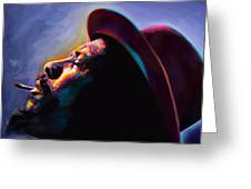 Round Midnight Thelonious Monk Greeting Card
