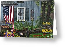 Round Swamp Farm By Alison Tave Greeting Card by Sheldon Kralstein