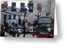Round The Piccadilly Greeting Card