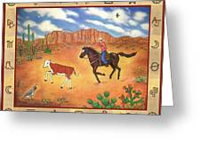 Round Up And Cattle Brands Greeting Card