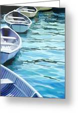 Rounded Row Of Rowboats Greeting Card
