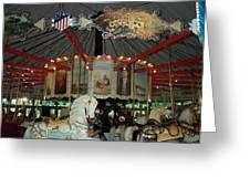 Rounding Board Slater Park Carousel Greeting Card