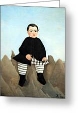 Rousseau's Boy On The Rocks Greeting Card