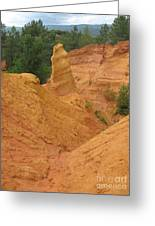 Roussillon Ochres Pigments Rock Greeting Card