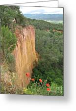 Roussillon Red Rock Landscape Greeting Card