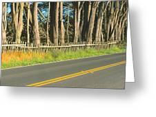 Route 1, Mendocino, California Greeting Card