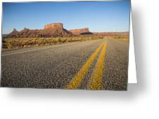Route 128 Near Castle Valley Greeting Card