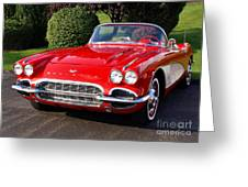 Route 66 - 1961 Corvette Greeting Card
