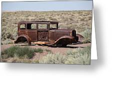 Route 66 - Abandoned Car Greeting Card