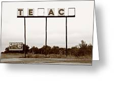 Route 66 - Abandoned Texaco Station Greeting Card