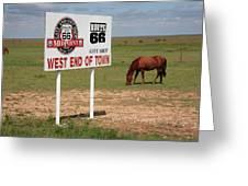 Route 66 - Adrian Texas Greeting Card