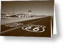 Route 66 - Amboy California Greeting Card