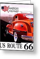 Route 66 America's Highway Greeting Card