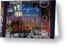 Route 66 - Angel's Barber Shop Greeting Card