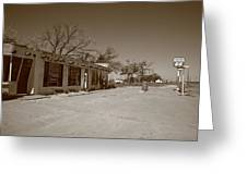 Route 66 - Bent Door Cafe Greeting Card