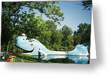Route 66 Blue Whale Waterpark Greeting Card