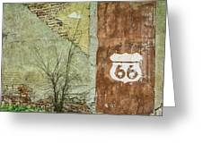 Route 66 Brick And Mortar Greeting Card