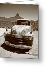 Route 66 - Classic Chevy Greeting Card