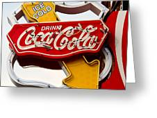 Route 66 Coca Cola Greeting Card