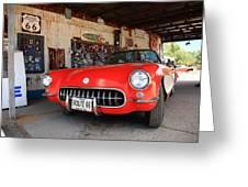 Route 66 Corvette Greeting Card
