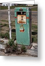 Route 66 Gas Pump - Adrian Texas Greeting Card