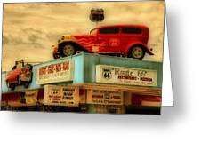 Route 66   Hdr Greeting Card