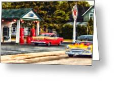 Route 66 Historic Texaco Gas Station Greeting Card