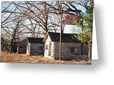 Route 66 John's Modern Cabins Greeting Card