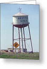 Route 66 - Leaning Water Tower Greeting Card