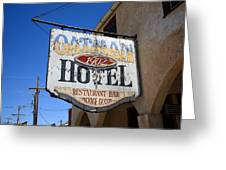 Route 66 - Oatman Hotel Greeting Card