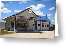 Route 66 - Odell Gas Station 7 Greeting Card