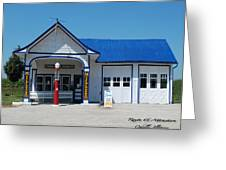 Route 66 Odell Il Gas Station 01 Greeting Card