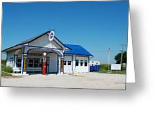 Route 66 Odell Il Gas Station 02 Greeting Card