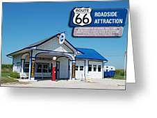 Route 66 Odell Il Gas Station Signage 01 Greeting Card