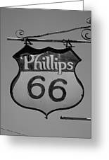 Route 66 - Phillips 66 Petroleum Greeting Card