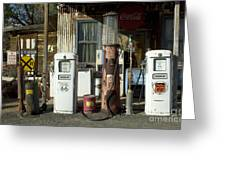 Route 66 Pumps Greeting Card