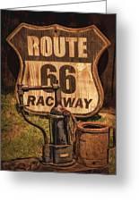 Route 66 Raceway Greeting Card