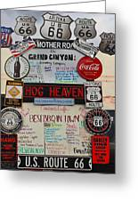 Route 66 Signs Greeting Card