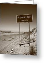 Route 66 - Sitgreaves Pass Greeting Card