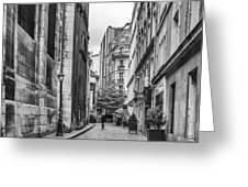 Route Parisian Greeting Card