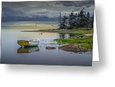 Row Boat By Mount Desert Island Greeting Card