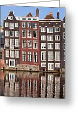 Row Houses In Amsterdam Greeting Card