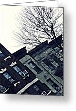 Row Houses In Washington Heights Greeting Card