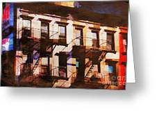 Row Houses - Old Buildings And Architecture Of New York City Greeting Card