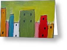 Row Houses Greeting Card
