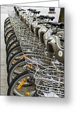 Row Of Bicycles Greeting Card