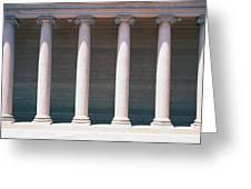 Row Of Columns San Francisco Ca Greeting Card