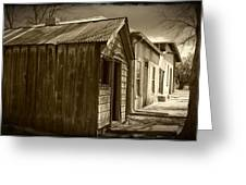 Row Of Houses Greeting Card